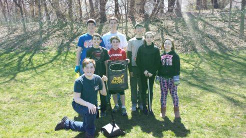 Saint Patrick's grounds clean up