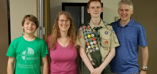 New Eagle Scout, Josiah W.