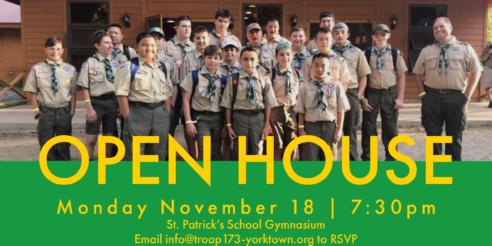 OPEN HOUSE November 18
